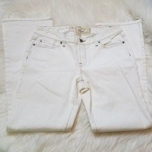 🛒LOFT Ann Taylor Slim Bootcut Jeans White Denim 6